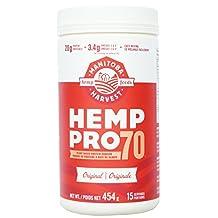 Manitoba Harvest Hemp Pro 70 Protein Powder Concentrate, 454 g Tub