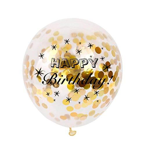 Noon-Sunshine decorative-plaques Happyations Adult Customized Birthday Party Gold Black Anniversary Decor,Bday Confetti balloo]()