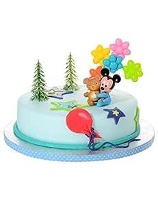 COOLMP - Juego de 12 Accesorios para Tarta de bebé Mickey ...