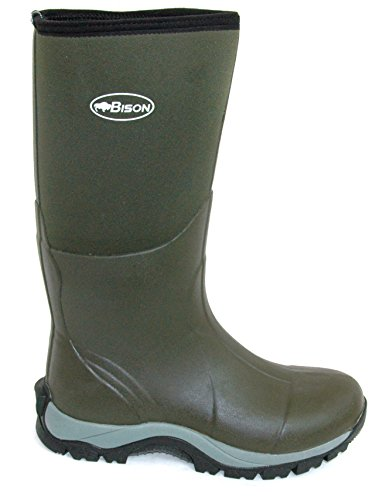 Bison mm invernali neoprene stivali 10 Wellington in 7PCfAwFq