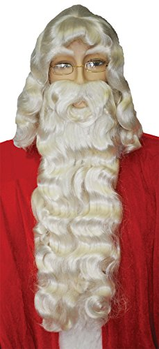 UHC Men's Santa Claus Beard And Wig Set Christmas Theme Party Costume Accessory by Ultimate Halloween Costume