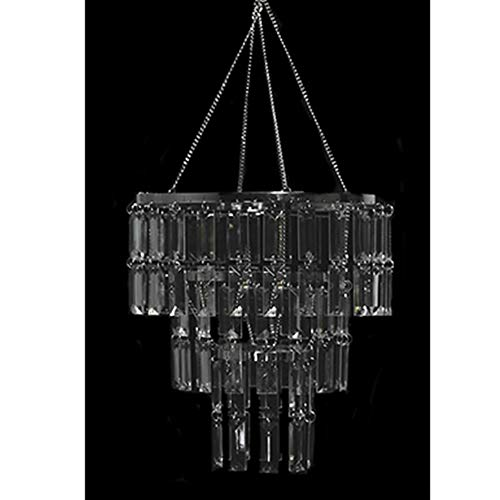 Event Decor Direct 3-Tiered Acrylic Faceted Chandelier ()