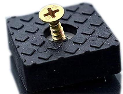 Tapas de goma para muebles, protectores para suelos de madera, reducen el ruido, para patas de muebles, negro