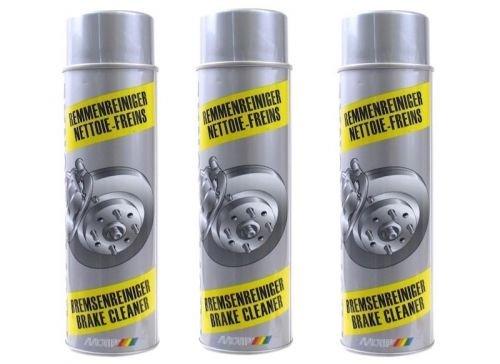 3 x/Liseret Nettoyant pour frein 500 ml spray aé rosol Motip