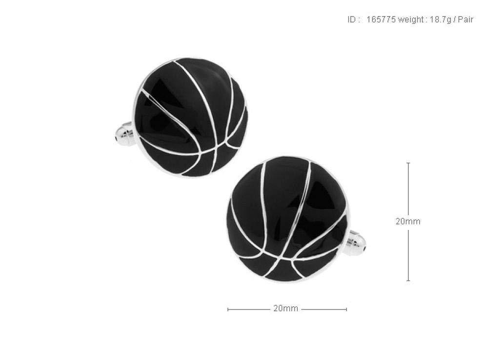 ESCYQ Gemelos,Gemelos Unisex Baloncesto Moda Negro Simple Puños ...
