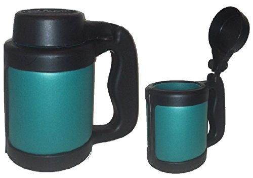 Can Stein Beverage Insulator 12 oz.Can Cooler w/Flip-Top Lid-Teal
