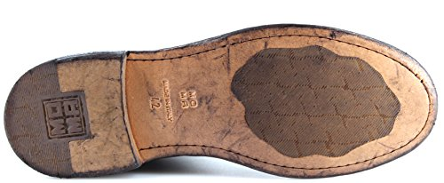 In Uomo Italy 3a New Moma 14803 Vintage Bufalo Stivaletti Pelle Made Scarpe Nero HnwqUg