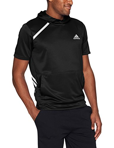 adidas Mens Basketball Sport Shooter Top, Black, X-Large