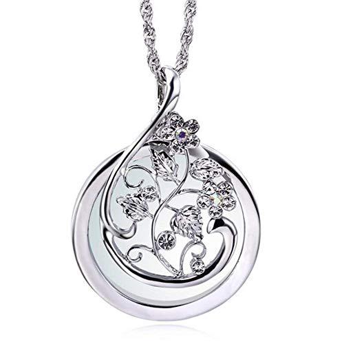 5afd075c47e2 Colgante De Cadena De Suéter Largo Collar De Lupa De Diamantes De Imitación  Chapado En Oro