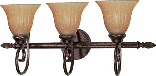 (Nuvo Lighting 60/017 Three Light Fixture Vanity, Copper Bronze)