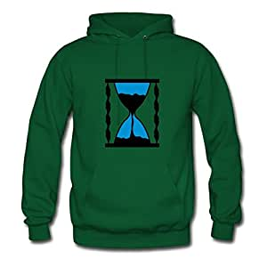 Fashionalble Designed Green Women Sanduhr_2 Long-sleeve Hoody X-large
