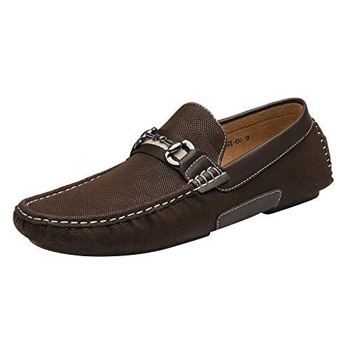 Bruno Marc Men's Penny Loafers Moccasins Shoes