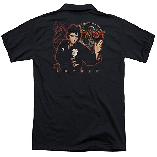 Elvis-Presley-Karate-Adult-Polo-Back-Print
