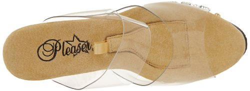Pleaser Dice-702-2 - Sandalias Mujer - Clear/Gold