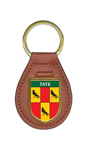 (Tate Family Crest Coat of Arms Key Chains)