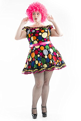 Charades Women's Size Just Clowning Dress Plus Costume, as as Shown, 1X ()
