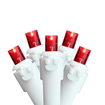 Sienna Set of 60 Red LED Wide Angle Christmas Lights - White Wire