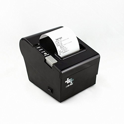 "EOM-POS Thermal Receipt Printer - USB, Ethernet / LAN, & Serial Port - Auto Cutter - Cash Drawer Port - Paper Width 3 1/8"" (80mm) - Works on Linux, and Windows XP/Vista/7/8/8.1/10 Uses Standard ESC/POS Commands - NOT COMPATIBLE WITH SQUARE OR CLOVER"