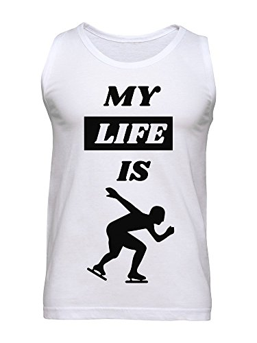 My Life Is Ice Skating Men's Tank Top