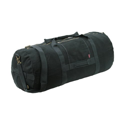 (Rapid Dominance Olive Heavy Weight Military Duffle Bags Medium (28 x 14 Inch) (Black))