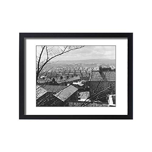 (Media Storehouse Framed 24x18 Print of Terraced Housing (18175631))