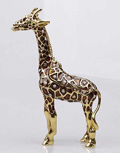 Giraffe Crystals Jewellery Jewelry Trinket Box Standing Giraffe Keepsake (Giraffe Crystal Jewelry)
