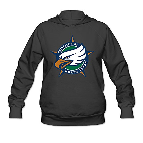 AUSIN Women's University Of North Texas Eagles Hoodie Black Size M