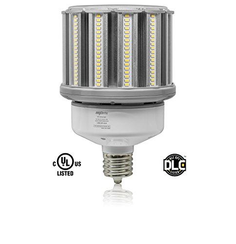 (80W LED Corn Light Bulb White 4000K Replaces 300W HID, 9,600 lumens Mogul Base EX39, 100-277V AC UL DLC)
