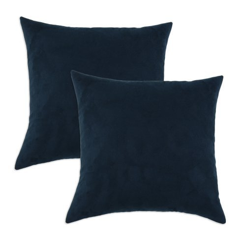 Brite Ideas Living Slam Dunk Navy Simply Soft 17 by 17-Inch KE Synthetic Down Like Fiber Pillow, Set of 2 by Brite Ideas Living by Chooty & Co.