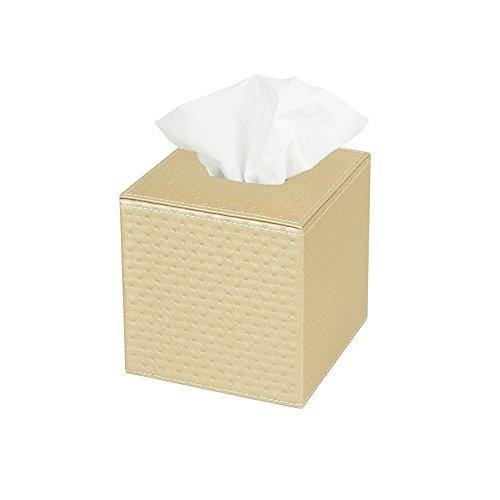 JackCubeDesign Square Tissue Box Cover Holder Case Kleenex Cover Holder Box Napkin Holder Organizer Stand(Gold, 5.4 X 5.4 X 5.6 inches)- (Gold Tissue Holder)