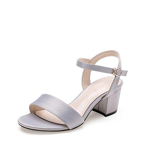 PUMPS Sandalen Schuhe,Fashion Heel Heels Schuhe Kinder mit Schuhen-B Fußlänge=24.3CM(9.6Inch)