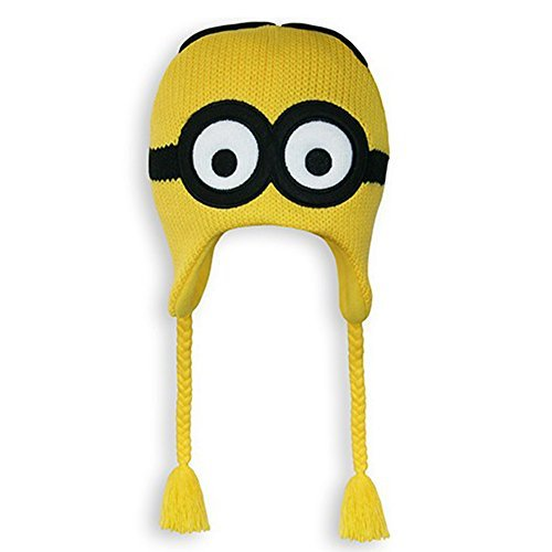 (Despicable Me 2 Dave Minion Knit Peruvian Beanie (Yellow))
