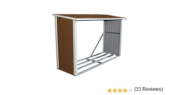 Bentley - Cobertizo para guardar madera - Metal - 242 x 89 cm: Amazon.es: Jardín