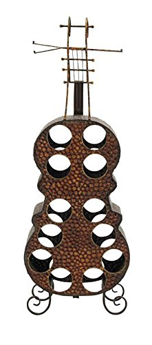 Metal cello wine rack