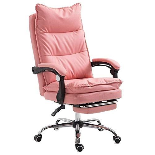 AOLI Alto a Oficina Escritorio de la computadora y una silla con reposapies Masaje Wheel Boss Gaming Computer Silla de oficina de cuero sintetico puede mentir La ergonomia del hogar, ergonomica y com