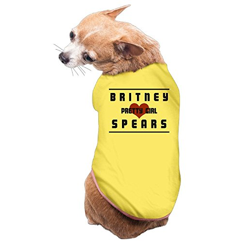 [Greenday I Love Pretty Girl Fashion Doggy Pets Costumes Size S Yellow] (Britney Spears One More Time Costumes)