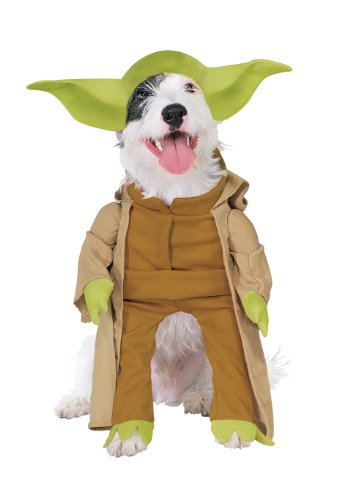 [Rubies Costume Star Wars Collection Pet Costume, Yoda with Plush Arms, Large] (Sci Fi Halloween)