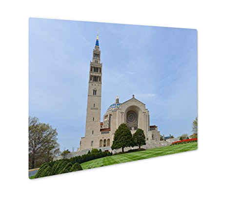 Ashley Giclee Metal Panel Print, Washington D C Basilica Of The National Shrine Catholic Church, Wall Art Decor, Floating Frame, Ready to Hang 16x20, AG6556630 by Ashley Giclee