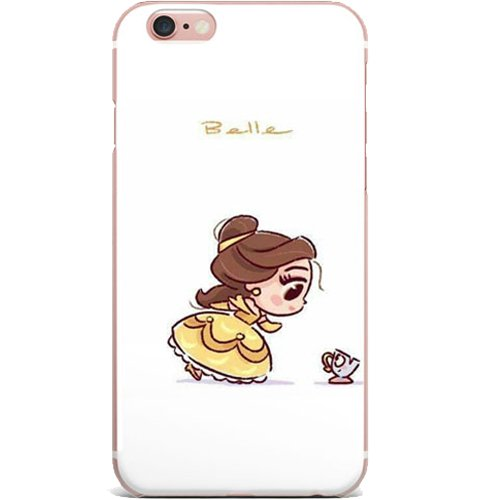 Disney's Lilo & Stitch, Beauty and the Beast, Little Mermaid, Alice in Wonderland, Snow White, Cinderella, Frozen Apple iPhone 7 Case (Belle)