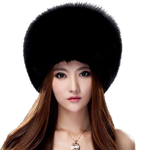 URSFUR Black Fox All Fur Zhivago Pill Box Fur Hat Natural Color by URSFUR