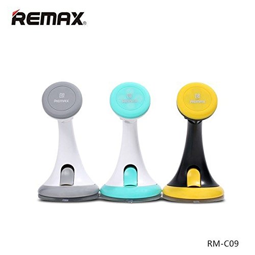 Remax C09 360°Rotating Magnetic Adsorption Car Holder Silicone Chassis Stand For (Chassis 360)