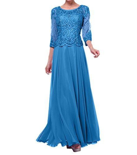 Langes Charmant Langarm Kleider Navy Damen Blau Blau Abendkleider Festlichkleider Ballkleider Spitze Festliche CCqatO