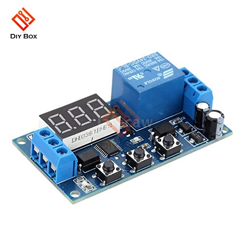 s Dc 24V Time Delay Relay Module Digital Led Delay Timer Module Switch Control Relais Cycle High Performancetimer Module ()