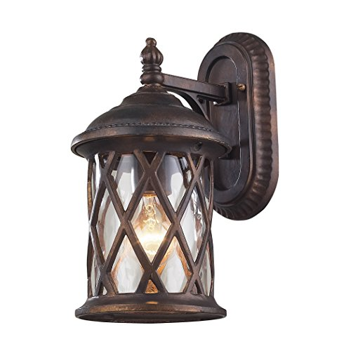 1 Barrington Gate - 1 Light Outdoor Sconce In Hazlenut Bronze And Designer Water Glass