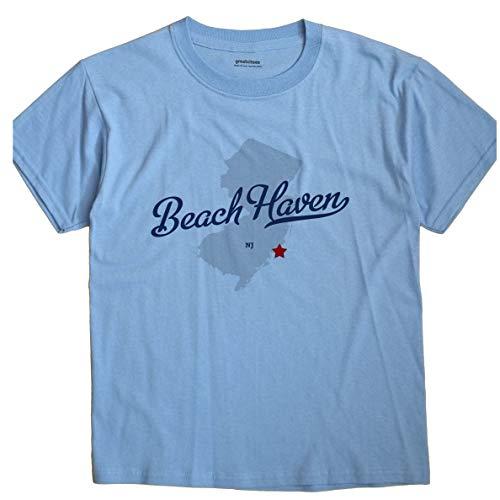 GreatCitees Beach Haven New Jersey NJ MAP Unisex Souvenir T Shirt