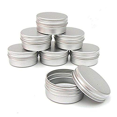 CTKcom Screw Top Round Steel Tins,2-Ounce, For Lip Balm, Crafts, Cosmetic, Candles, Storage Kit(Pack of ()