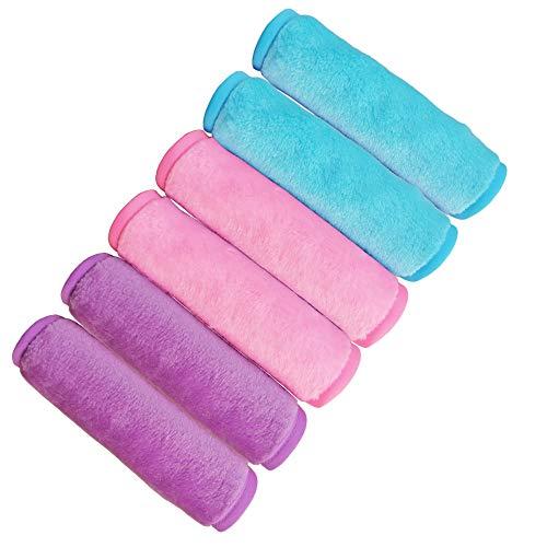 Makeup Remove Face Towels, Reusable Makeup Remover Cloths (6 packs), Makeup Remover Towel Reusable Microfiber Cleansing…