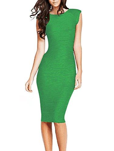 U8Vision - Vestido - Noche - para mujer Verde