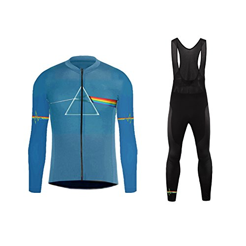 (Uglyfrog 2018 UG8 New Classical Thermal Fleece Winter Long Sleeve Cycling Jersey+Long Pant Set Mountain Triathlon Clothing)