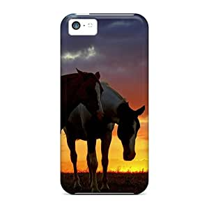 Top Quality Rugged Horse Sunset Case Cover For Iphone 5c
